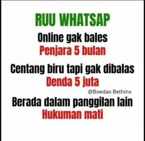 RUU WhatsApp tidak di Balas
